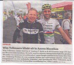 Wim Tollenaere blinkt uit in Azores Marathon