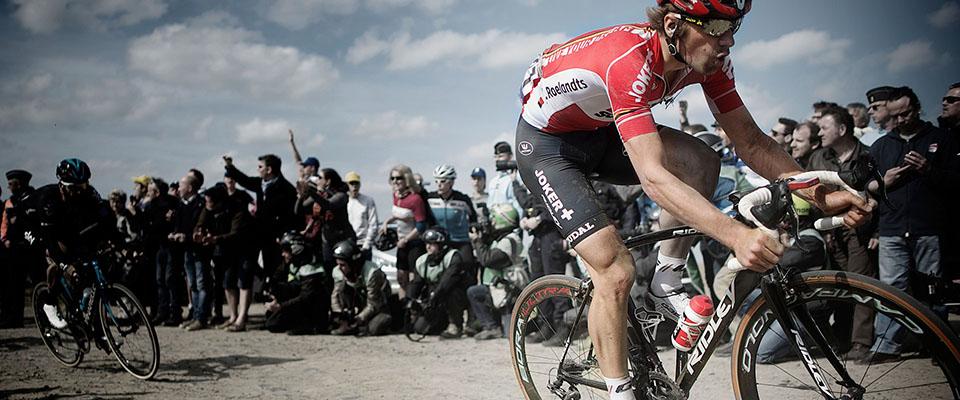 Jurgen Roelandts tijdens Parijs-Roubaix
